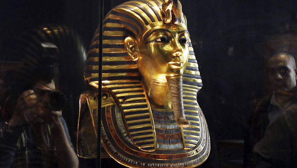 Elegante Gestalt: Die Totenmaske von Pharao Tutanchamun