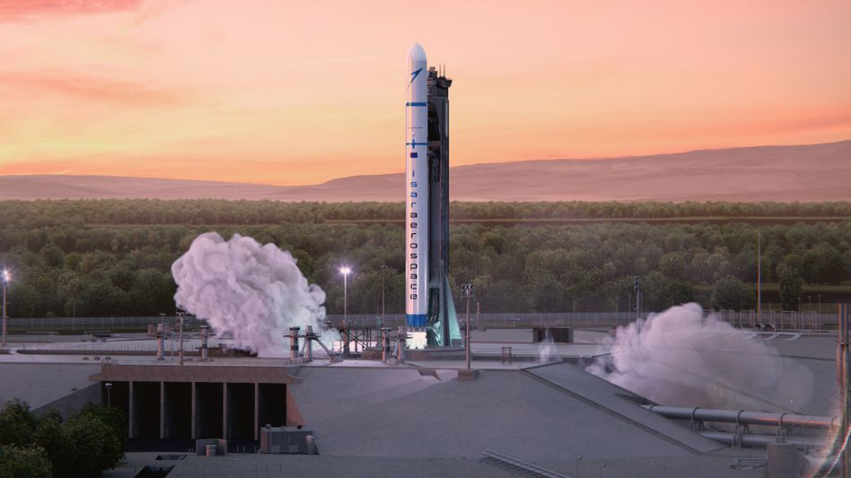 Geplanter Start einer Rakete von Isar Aerospace (künstlerische Darstellung)