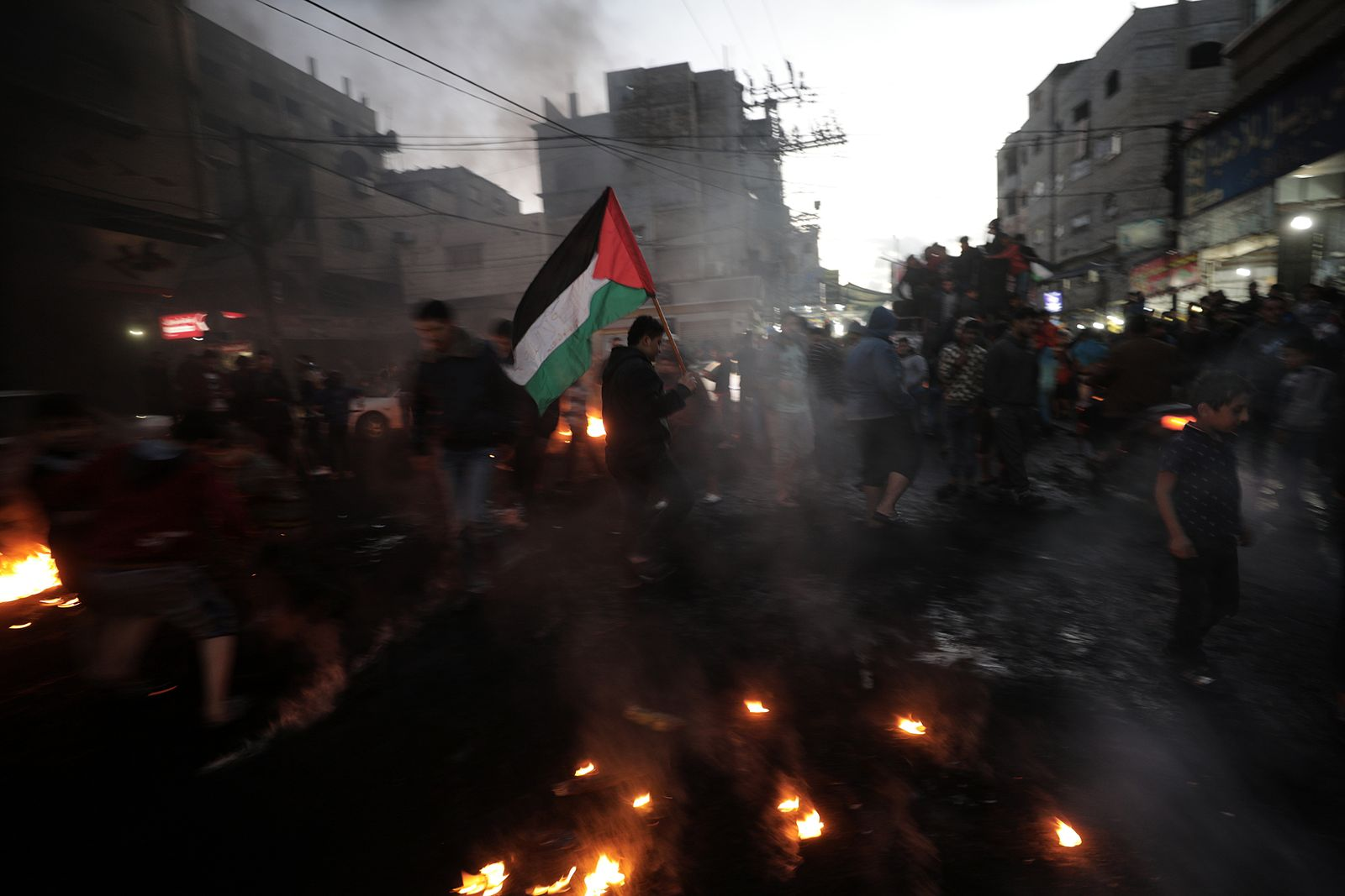 Palestinians refugees attend a protest against the US President decision to recognize Jerusalem as the capital