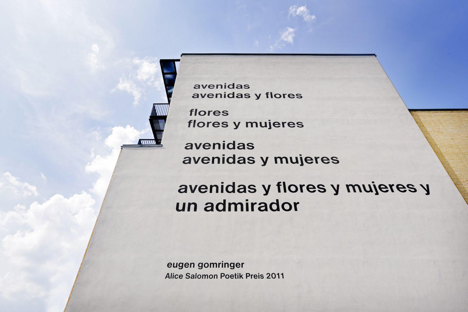 EINMALIGE VERWENDUNG Alice Salomon Hochschule Berlin / Gedicht