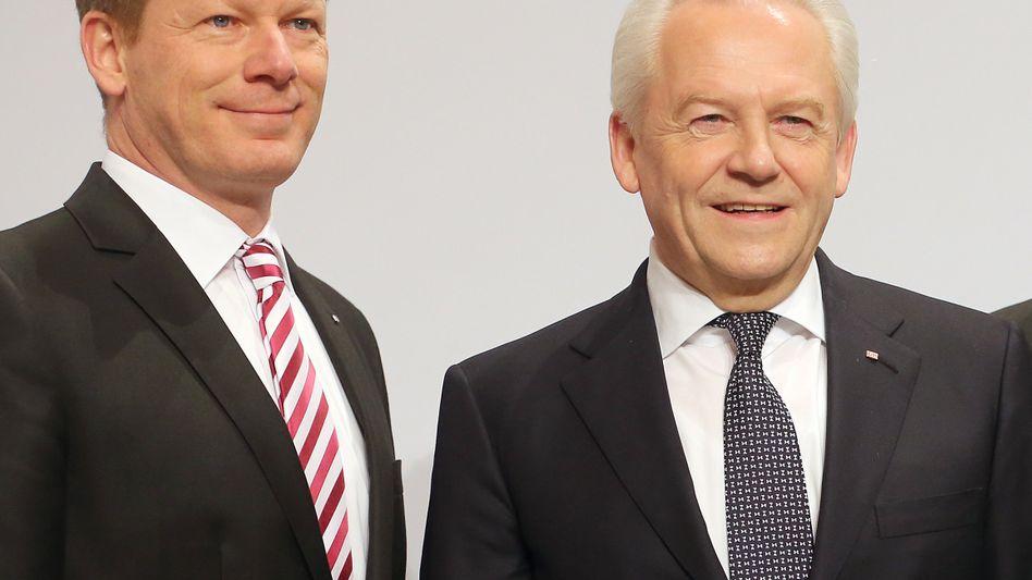 Richard Lutz (links) und Rüdiger Grube