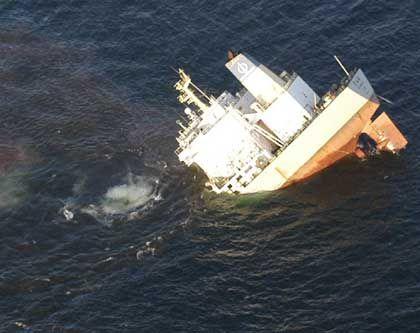 """Keine Chance auf Rettung: Der chinesische Frachter """"Fu Shan Hai"""" sinkt sofort nach der Kollision"""