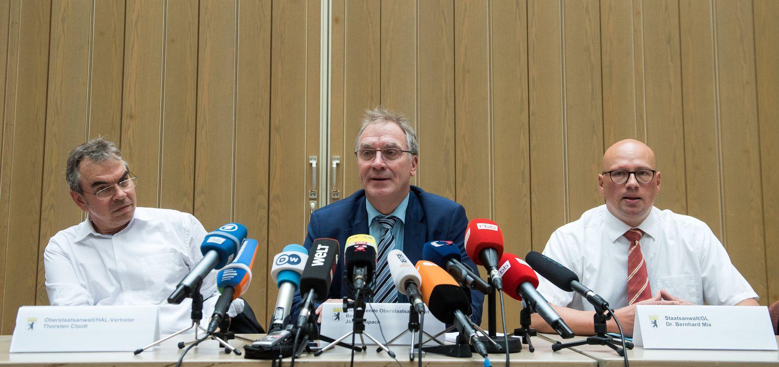 Pressekonferenz zu Ermittlungen gegen kriminelle Clans