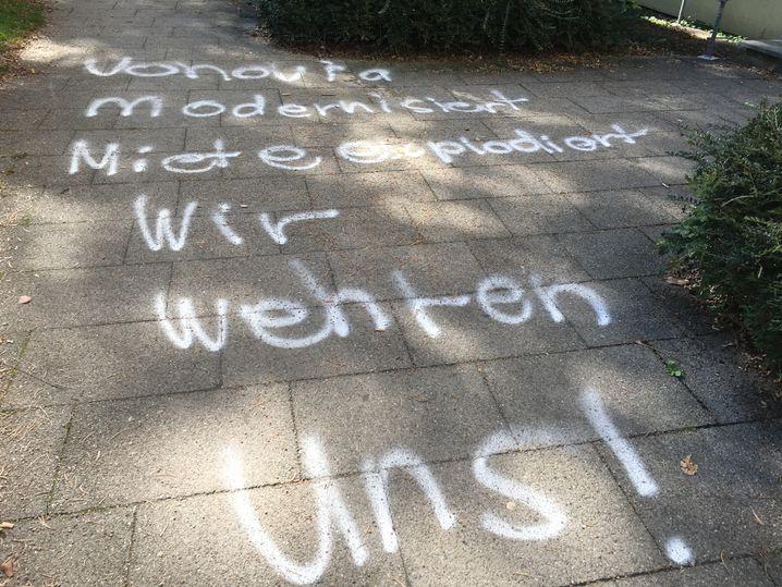 Anti-Vonovia-Graffiti in Konstanz