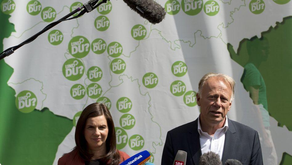 Grüne Spitzenkandidaten Göring-Eckardt, Trittin: Vorwürfe vor der Wahl