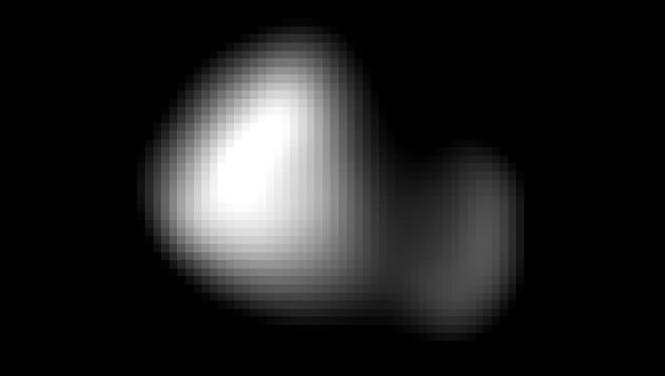 Pluto-Mond Kerberos: Das Bild entstand aus 396.100 Kilometern Entfernung