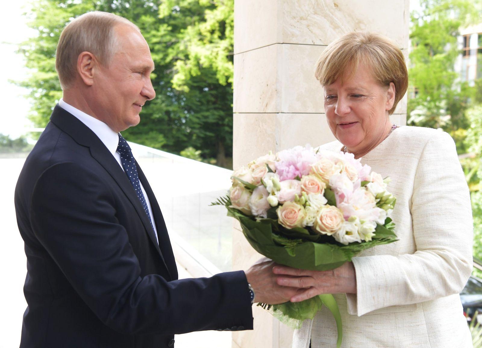 Wladimir Putin Angela Merkel