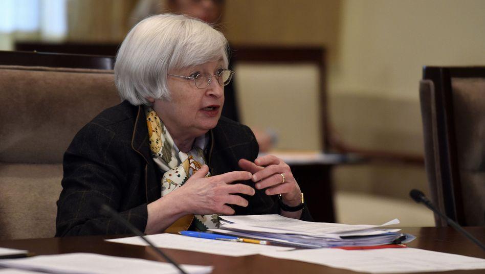 US-Notenbankchefin Janet Yellen: Verlangt zusätzliche Kapitalpuffer