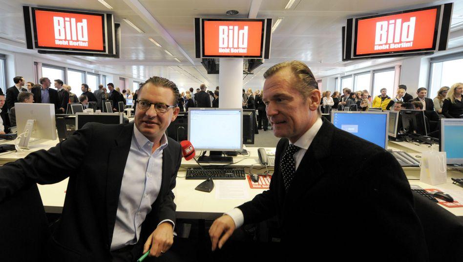 """""""Bild""""-Chefredakteur Diekmann und Springer-Chef Döpfner: """"Bleiben vorsichtig"""""""