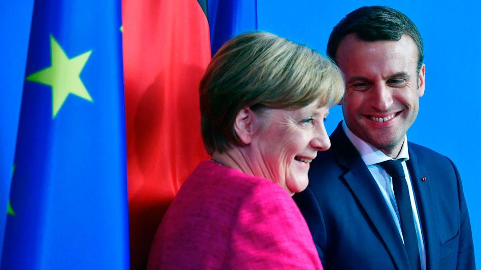 Angela Merkel und Emmanuel Macron