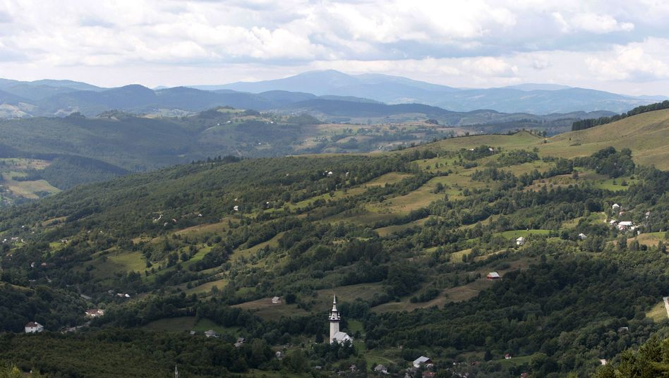 Rosia Montana in the Transylvanian region of Romania. The site could soon be marred by gigantic open-pit gold mines.