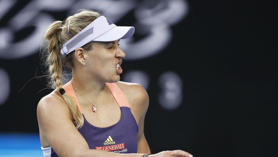 Angelique Kerber bei ihrer Niederlage gegen Anastasia Pavlyuchenkova