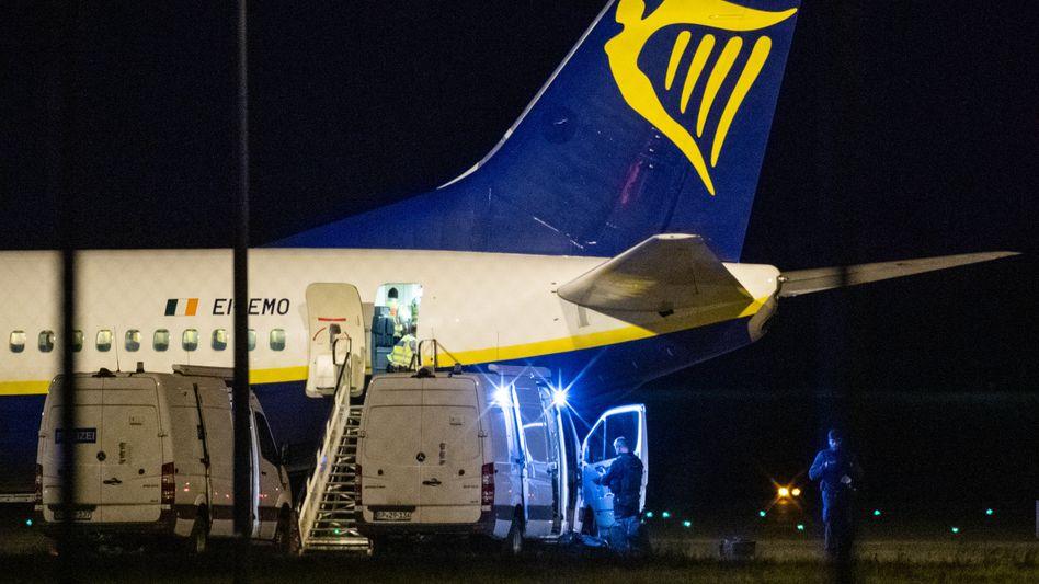 Unplanmäßig gelandete Ryanair-Maschine in Berlin