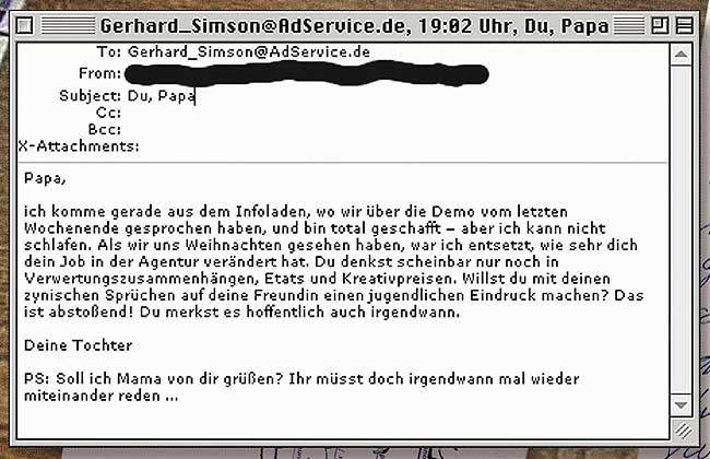 brief an papa von tochter