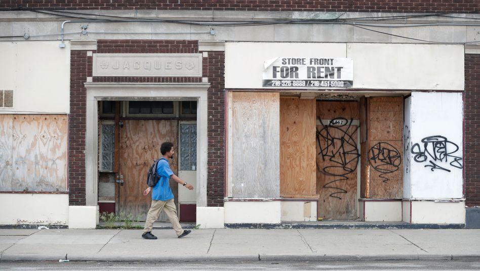 Geschlossene Geschäfte in Cleveland im US-Bundesstaat Ohio: Rund 44,2 Millionen Menschen haben seit Beginn der Coronakrise ihren Job verloren