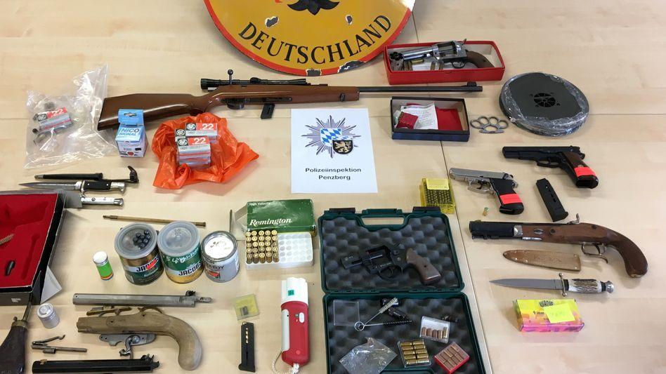 Sichergestellte Waffen in Oberbayern (2019)