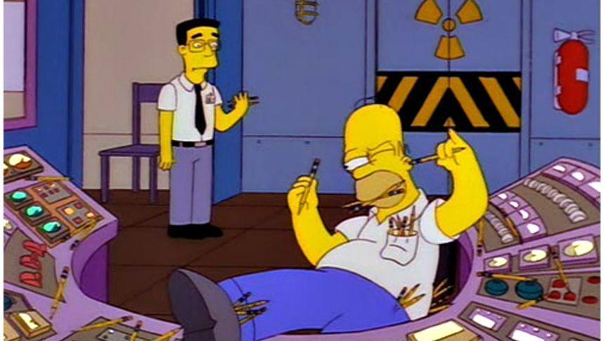 Ikone aller Faulenzer: US-Trickserienstar Homer Simpson kombiniert Nichtstun am Arbeitsplatz auf virtuose Weise mit Nichtskönnen