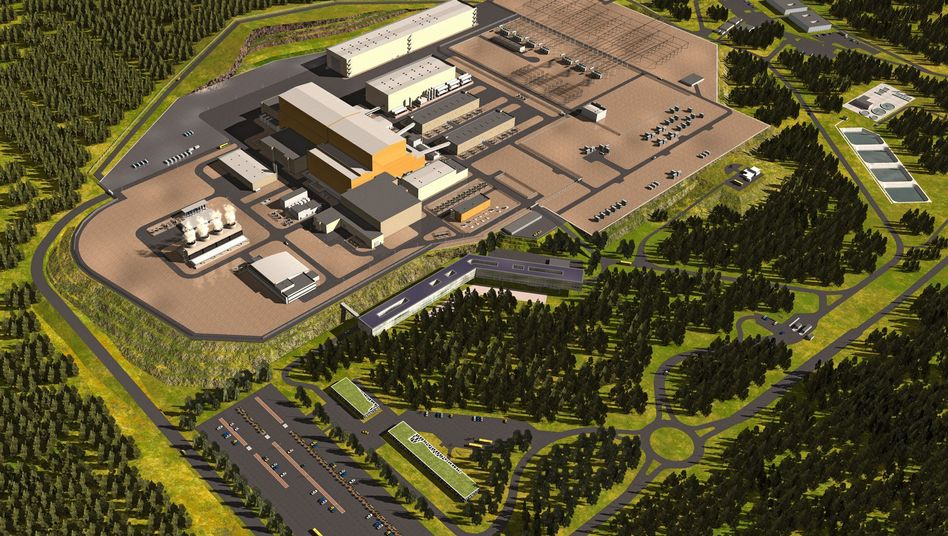 This computer image shows what the ITER facility in Cadarache, France, will look like when completed.