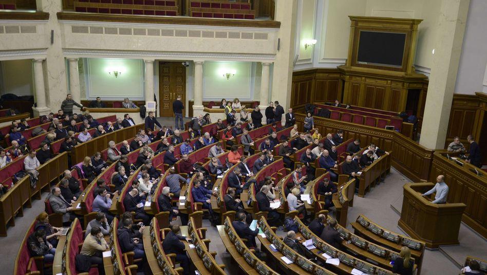 Parlament in Kiew: Appell an den Sicherheitsrat