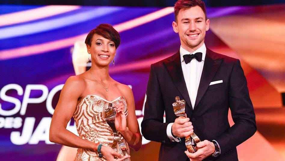 Beide holten den WM-Titel in ihren Leichtathletik-Disziplinen: Malaika Mihambo und Niklas Kaul