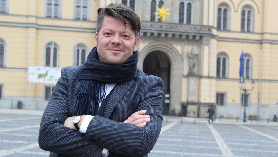 Thomas Zenker ist Oberbürgermeister von Zittau. In erster Instanz hat er gegen die NPD gewonnen.