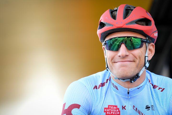 Marcel Kittel vor seinem Karriereende im Trikot von Team Katusha-Alpecin