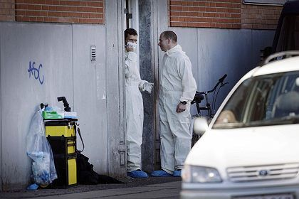 Danish police looking for evidence after a raid resulted in the arrests of eight suspected terrorists.