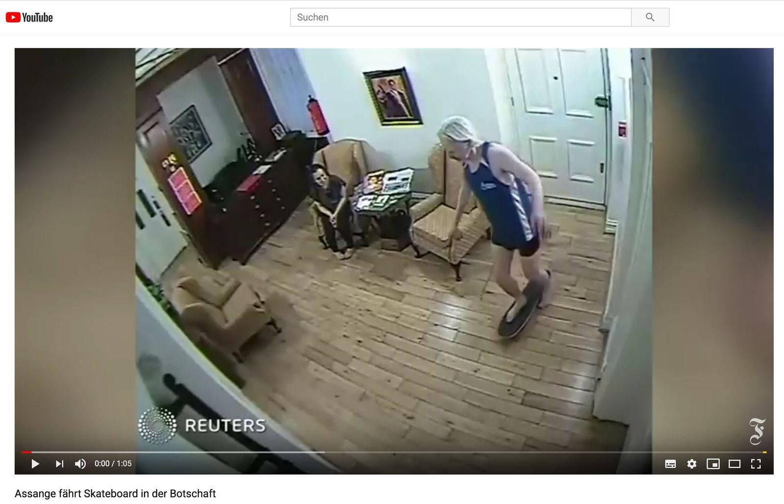 EINMALIGE VERWENDUNG SPIN SPIEGEL 19/2019 S. 72 Assange / Überwachung in der Botschaft