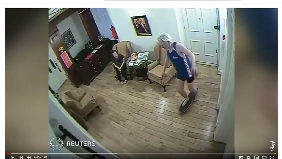 Still video images of Julian Assange in the Ecuadorian Embassy in London