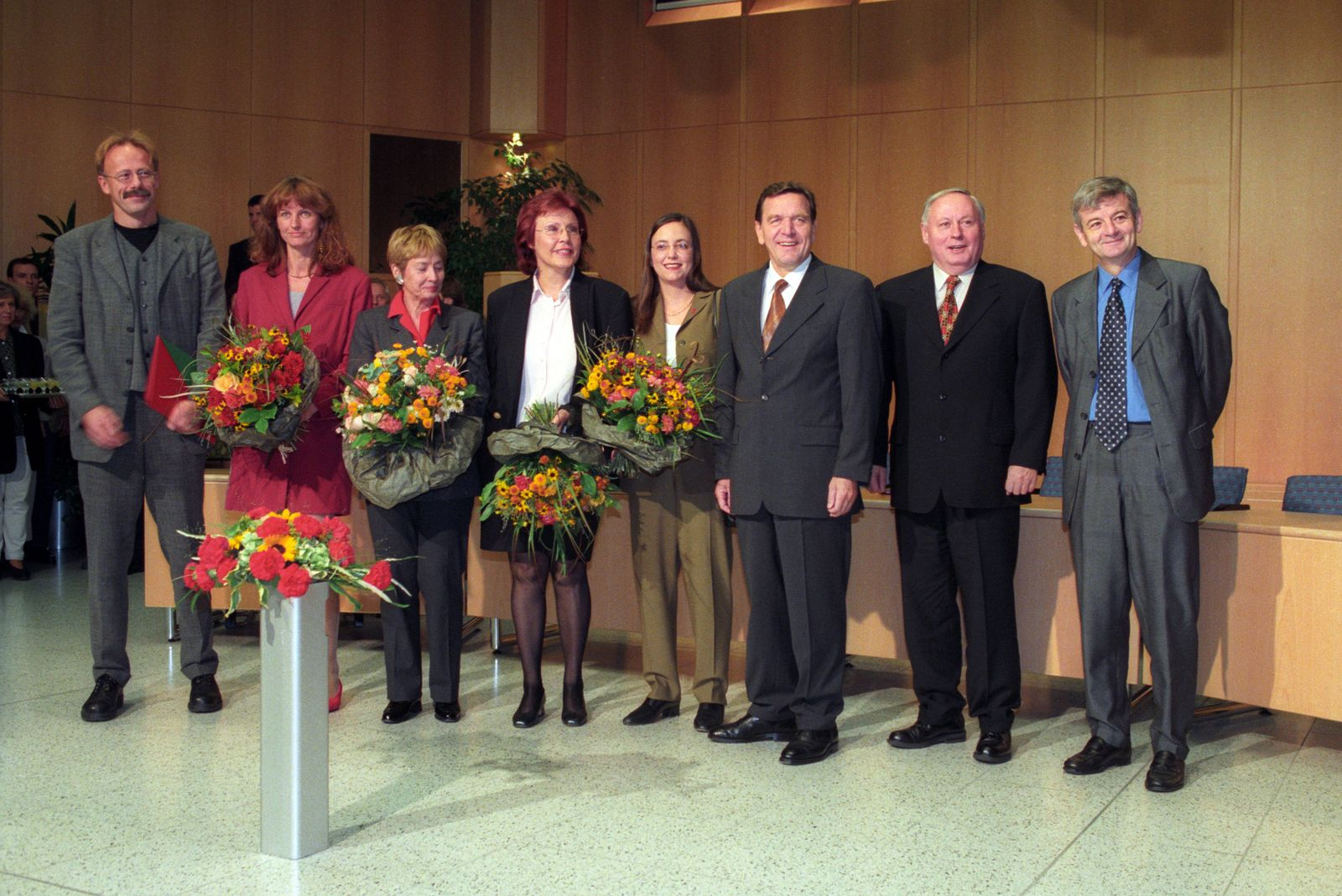 V l n r Jürgen Trittin Gunda Röstel Heidemarie Wieczorek Zeul Christine Bergmann Kerstin Müll