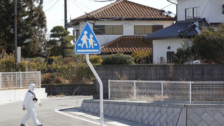 Okuma, nahe Fukushima (12. Februar 2012): Die Angst bleibt