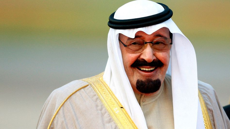 """Saudi Arabia's King Abdullah in a 2007 file photo: """"This is done with horses and falcons."""""""