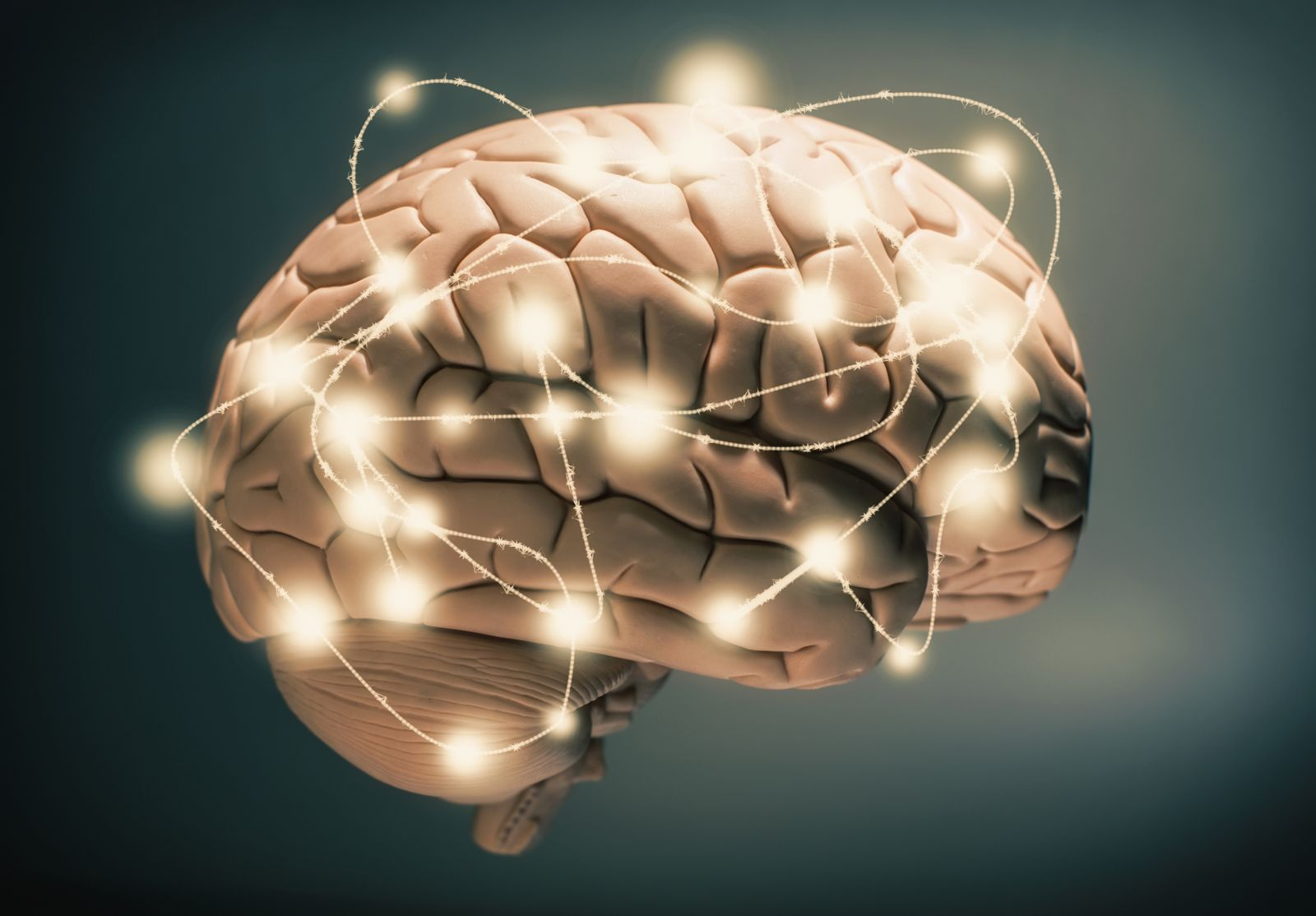 Gehirn / Funken / Aktiv / Idee