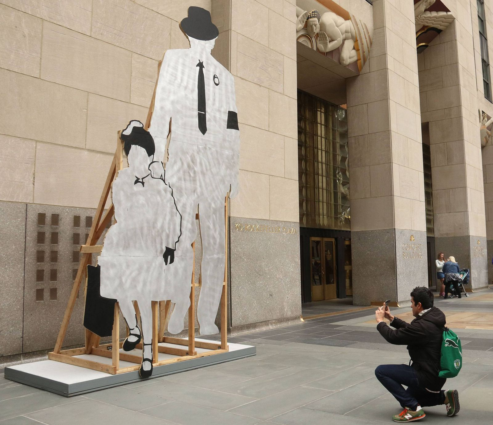 April 27 2019 New York City New York U S Artwork by PAULO NAZARETH RUBY on display which de