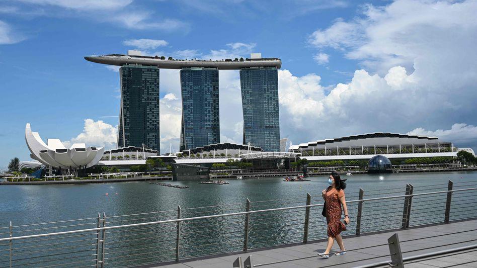 Blick auf das Marina-Bay-Sands-Hotel in Singapur (Symbolbild)