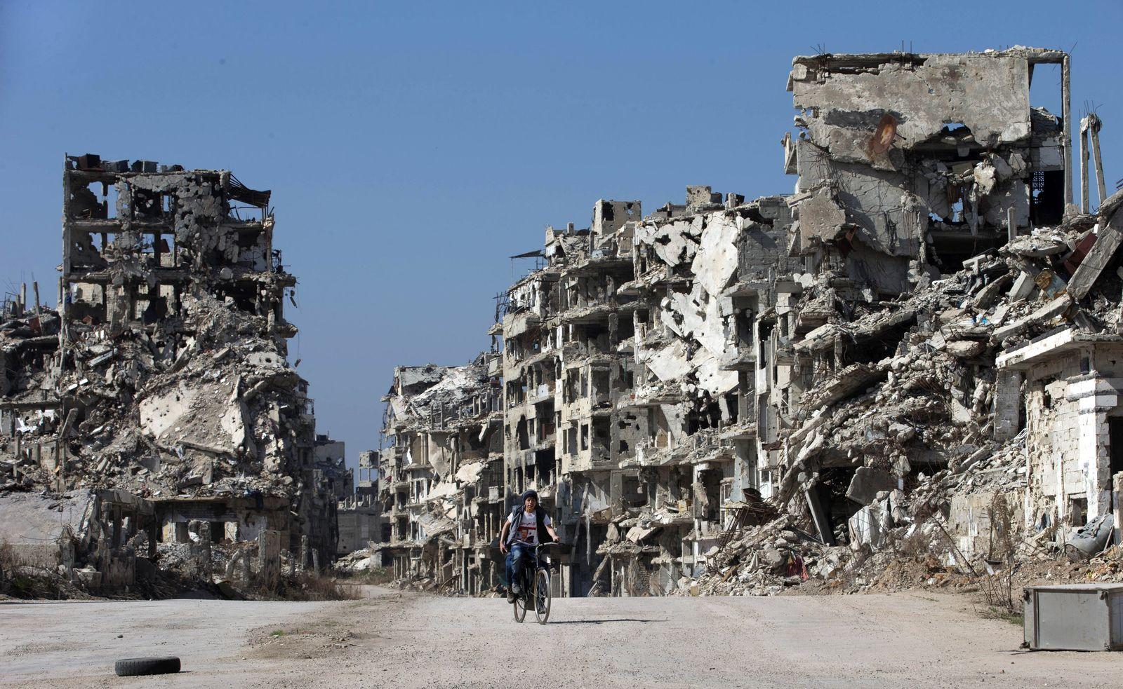 Syrien Homs Trümmer