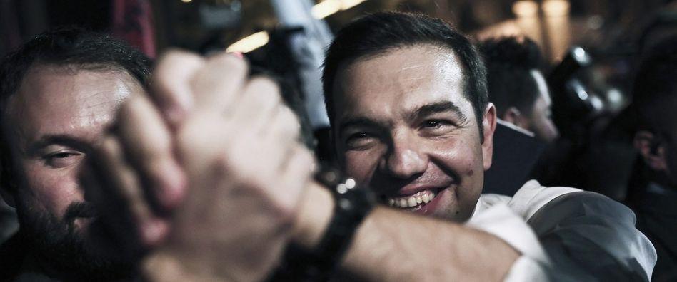 Premier Tsipras nach seinem Wahlsieg am 20. September 2015 in Athen: Sie stimmten noch einmal für ihn, aber der Zauber war weg
