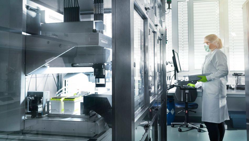 Biontech-Labor am Unternehmensstandort Mainz