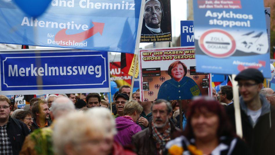 AfD-Anhänger in Berlin (Archivbild von November 2015)