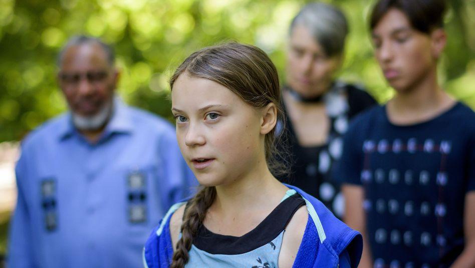 Klimakämpferin Thunberg (in Genf): Klare Worte in Richtung des US-Präsidenten