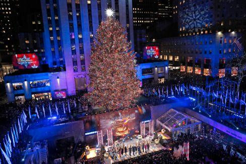 Weihnachtsbaum am Rockefeller Center im Jahr 2019