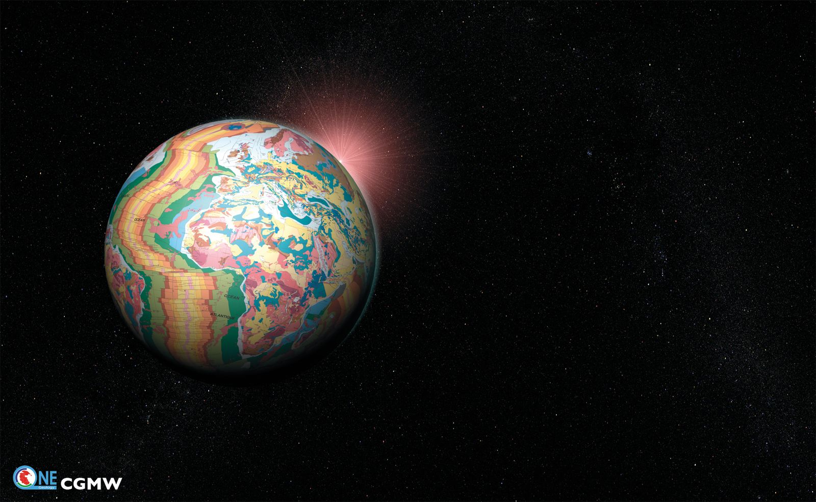 EINMALIGE VERWENDUNG Digitale Weltkarte / Erde