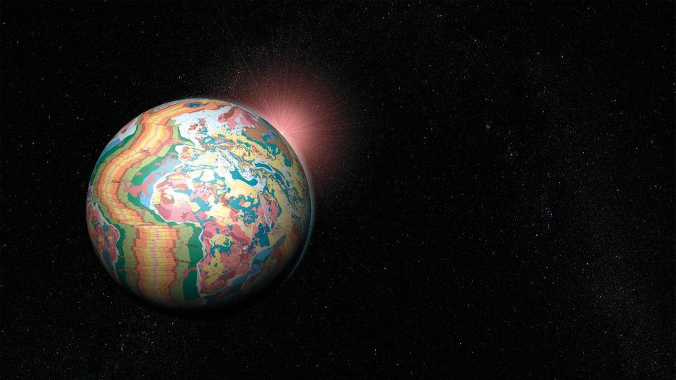 Digitale Weltkarte: Sonne, Mond und Planeten sind nicht real - sondern nur Reflexionen