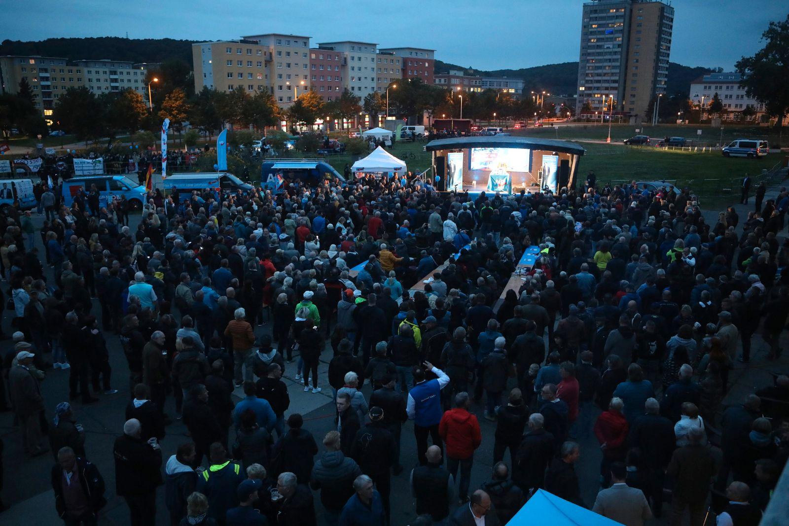 Wahlkampf AfD - Gera