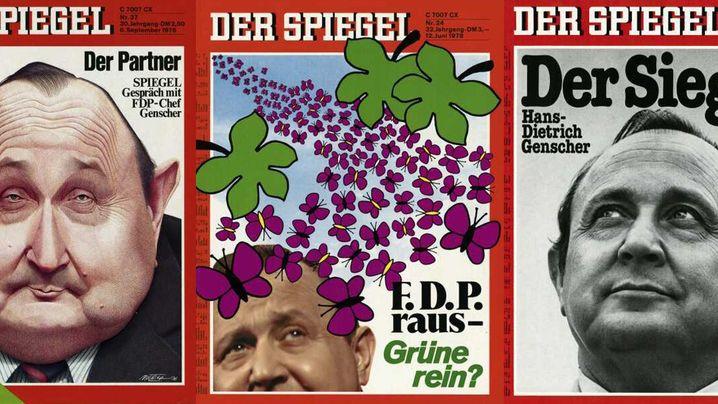 Hans-Dietrich Genscher: Genscher als Cover-Boy - die SPIEGEL-Titelbilder