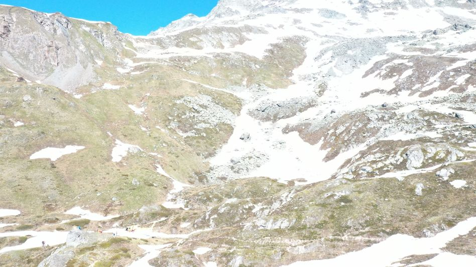 Bergregion an einer der beiden Absturzstellen