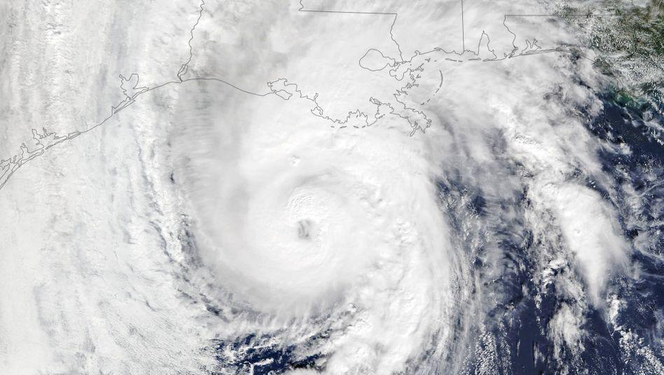 """Satellitenaufnahme von Wirbelsturm """"Zeta"""" im Golf von Mexiko"""