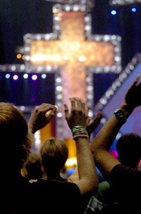 Gottesdienst in San Antonio, Texas: Traditionelle amerikanische Werte