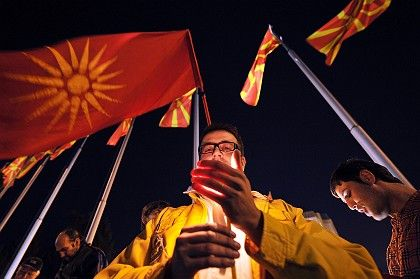 Macedonians protested in favor of their country's bid to join NATO this week, but to no avail. Greece blocked their application.