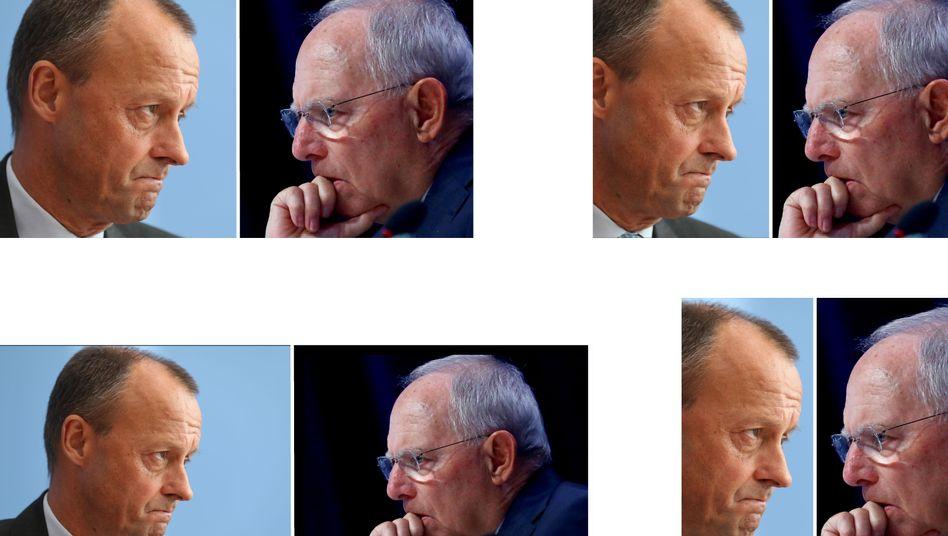 Merz und Schäuble: Der Pakt der Merkel-Rivalen
